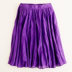 J. Crew Cotton Midi Skirt with POCKETS! 🎉